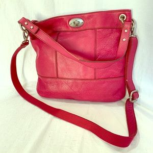 FOSSIL Vintage Authentic Magenta Leather Crossbody